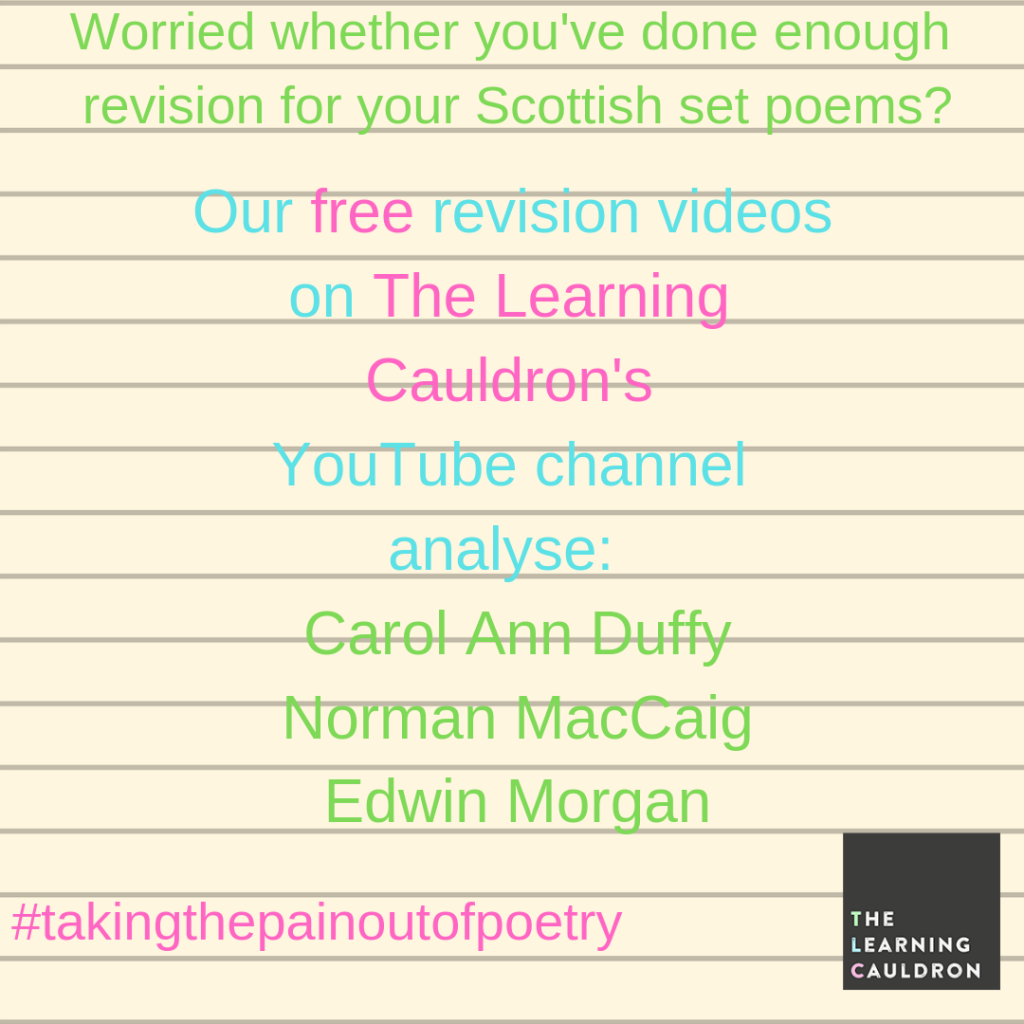 Free English revision resources on The Learning Cauldron YouTube channel