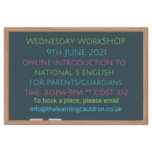 English Nat 5 Parents Workshop 2021